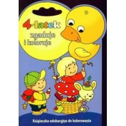 4-latek zgaduje i koloruje. Książeczka edukacyjna do kolorowania