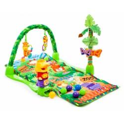 Mata Edukacyjna dla dzieci Rainforest Tropical ZOO E1