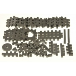 PIANKOWE PUZZLE SENSORYCZNE 115EL. grafit premium U1