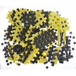 PIANKOWE PUZZLE SENSORYCZNE 230EL graphite-lemon premium U1