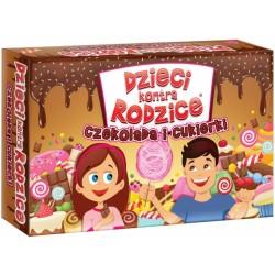 Gra rodzinna Dzieci kontra rodzice: czekolada i cukierki