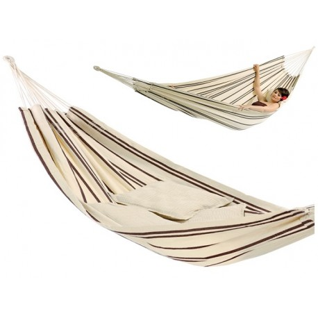 Hamak dwuosobowy BARBADOS CAPPUCCINO 230x150cm T1