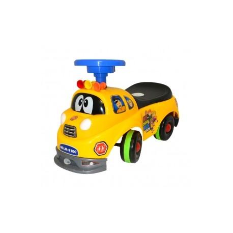 Pojazd, odpychacz, zabawka - Wóz strażacki - Żółty D1