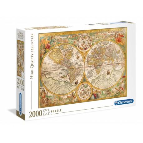 PUZZLE MAPA ŚWIATA 2000 ELEMENTÓW CLEMENTONI