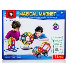 Kolorowe klocki magnetyczne MAGICAL MAGNET 71 SZT. E1