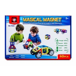 Kolorowe klocki magnetyczne MAGICAL MAGNET 40SZT E1