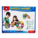 Kolorowe klocki magnetyczne MAGICAL MAGNET 52 SZT E1