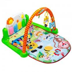Mata Edukacyjna dla dzieci z pianinkiem małpka E1