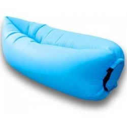 DUŻA Lazy Bag SOFA materac LEŻAK na POWIETRZE błękitny E1