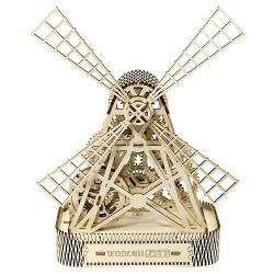 Drewniane puzzle mechaniczne 3D Wooden.City - Wiatrak T1