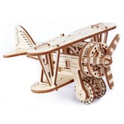 Drewniane puzzle mechaniczne 3D Wooden.City - Samolot T1