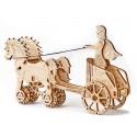 Drewniane puzzle mechaniczne 3D Wooden.City - Rydwan T1