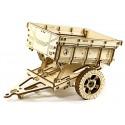Drewniane puzzle mechaniczne 3D Wooden.City - Przyczepa T1