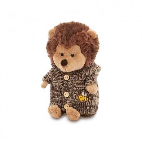 Przytulanka Jeżyk w brązowym sweterku z kapturem - 25cm T1