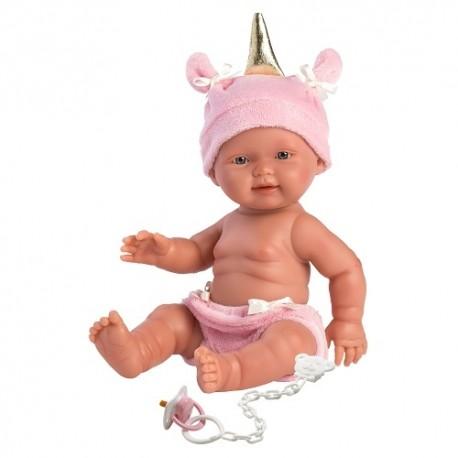 Hiszpańska lalka bobas dziewczynka Jednorożec - 26cm T1