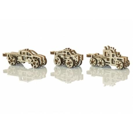 Drewniane puzzle mechaniczne 3D - Gadżety Ciężarówki T1