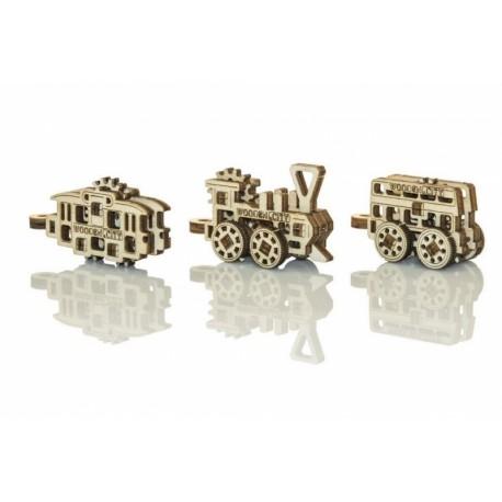 Drewniane puzzle mechaniczne 3D - Gadżety Transport T1