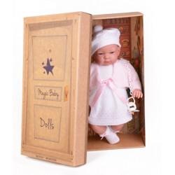 Hiszpańska lalka bobas dziewczynka Jenny w sukience 45cm T1