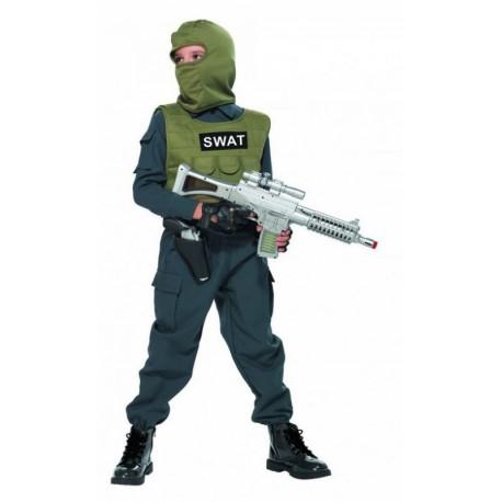 STRÓJ KARNAWAŁOWY SWAT SŁUŻBY SPECJALNE POLICJANT 104