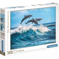PUZZLE 500 DELFINY HIGHT QUALITY CLEMENTONI