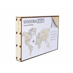 Drewniane puzzle 3D Wooden.City - Mapa Świata L T1