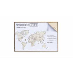 Drewniane puzzle 3D Wooden.City - Mapa Świata XL T1