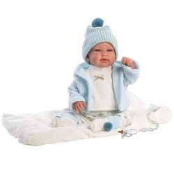 Hiszpańska lalka bobas chłopiec Tino – płacze 44cm T1