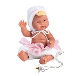 Hiszpańska lalka bobas dziewczynka Bebita Kaczuszka 26cm T1